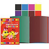 Цветная бумага А4, 8 цветов, 16 листов