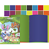 Двусторонняя цветная бумага А4, 16 цветов, 16 листов