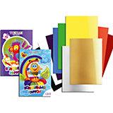 """Цветной картон """"Волшебный"""" А4, 10 цветов, 10 листов"""