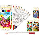 Цветные карандаши, 12 цветов (дизайн в ассортименте)