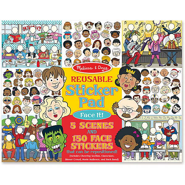 "Книжка с многоразовыми наклейками ""Лица"""