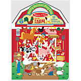 "Книжка с многоразовыми наклейками ""Ферма"""