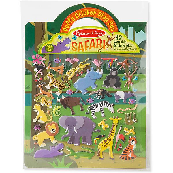 """Книжка с многоразовыми наклейками """"Сафари"""""""