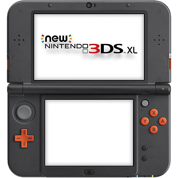 New Nintendo 3DS XL Konsole, orange schwarz