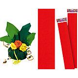 Красная крепированная бумага 50*250 см