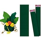 Зеленая крепированная бумага 50*250 см