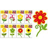 """Фетровые аппликации """"Цветок"""" 12*10 см (8 дизайнов в ассортименте)"""