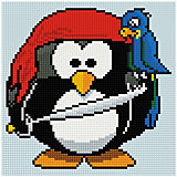 """Алмазная мозаика по номерам """"Пингвин"""" 20*20 см, на подрамнике"""
