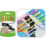 Цветные резиновые шнурки для обуви, 6 шт