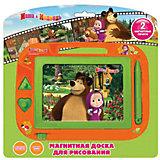 """Доска магнитная для рисования """"Маша и Медведь"""", Играем вместе"""