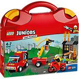 LEGO Juniors 10740: Чемоданчик «Пожарная команда»