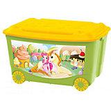 Ящик для игрушек на колесах 580*390*335, Бытпласт, зеленый