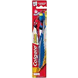 Зубная щётка Смайлс SpiderMan супермягкая для детей старше 5 лет, Colgate, синий/серый