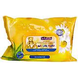 Влажные салфетки для малышей с экстрактами растений (с флип-топом) 64 шт, Dr. Tuttelle