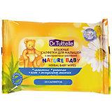 Влажные салфетки для малышей с экстрактами растений 20 шт, Dr. Tuttelle