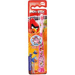 Детская зубная щетка с защитным колпачком, Angry Birds, LONGA VITA, розовый