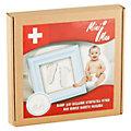 Набор для создания отпечатка ручки или ножки малыша в рамке, голубой, MiniMax