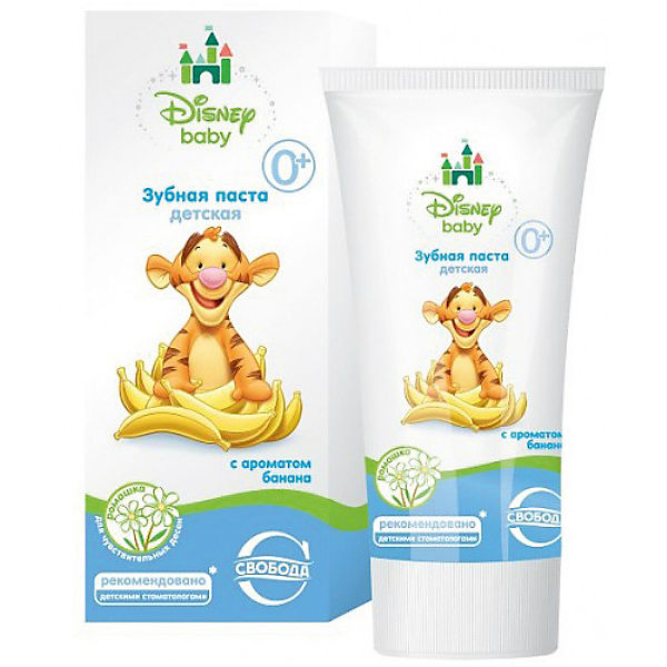 Зубная паста с ароматом банана в ламин. тубе в футляре Disney baby, Свобода