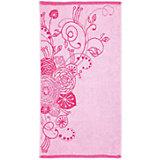 Полотенце махровое Лютики 35*70, Любимый дом, розовый