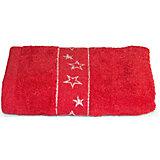 Полотенце махровое Звезды 50*90, Любимый дом, красный