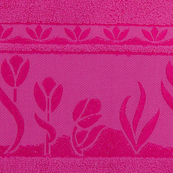 Полотенце махровое Tulips 70*140, Португалия, ярко-розовый
