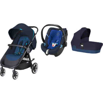 Kombi Kinderwagen Agis M-Air 4, 3 in 1 Set, Blue, 2016