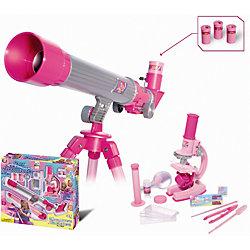 Телескоп и микроскоп для девочек (35 предметов), Eastcolight