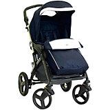 Прогулочная коляска CAM Dinamico 4S, синий с белой эко-кожей