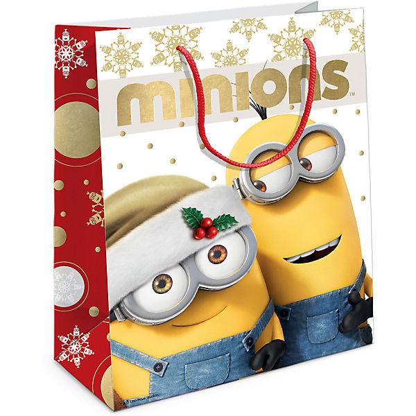 """Пакет подарочный """"Рождество Миньонов""""230*180*100"""
