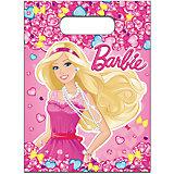 Пакет для подарков (набор 6 шт), Barbie