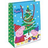 """Пакет подарочный """"Пеппа и елка"""" 350*250*90"""