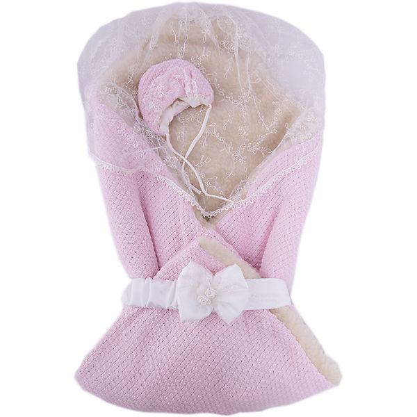 """Конверт-одеяло """"Жемчужинка"""", Сонный гномик, розовый"""