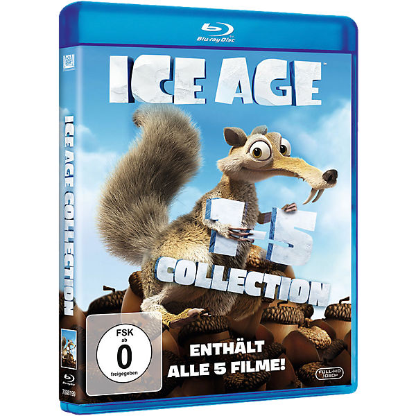 BLU-RAY Ice Age Filme Collection 1-5