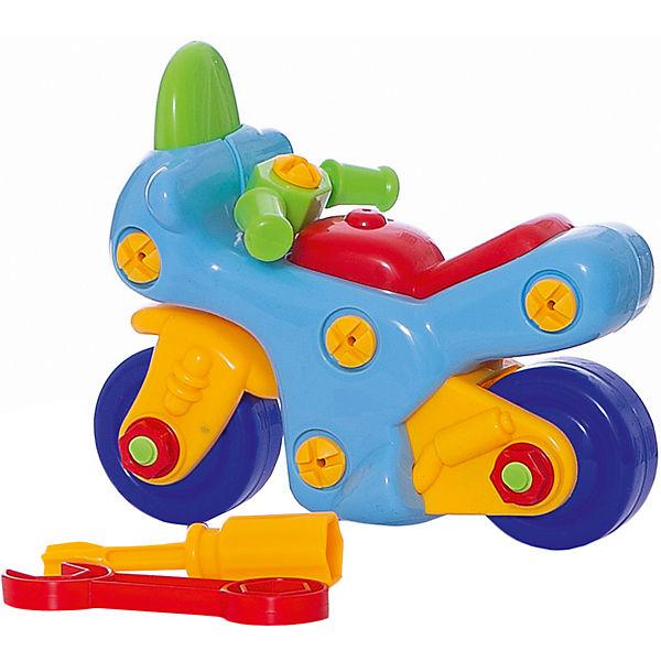 Конструктор Мотоцикл (с отверткой и ключом), KriblyBoo