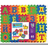 Пазлы с буквами, 60 элементов, KriblyBoo