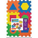 Пазлы с фигурами, 18 элементов, KriblyBoo
