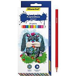 Набор карандашей, 24 цвета ПЛАСТИЛИНОВАЯ КОЛЛЕКЦИЯ, шестигранные