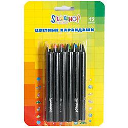 Карандаши цветные Jumbo укороченные, 12цв, EMOTIONS CREATIVE