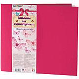 Альбом для скрапбукинга HOBBY, 10 файлов 305х305мм, цвет розовый