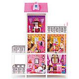 3-этажный кукольный дом (5 комнат, мебель, 3 куклы), PAREMO