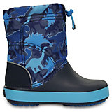 Сапоги Kids' Crocband LodgePoint Graphic Boot для мальчика CROCS