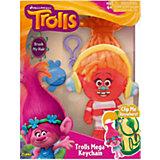 Фигурка Тролля DJ Suki, на брелке в наборе с расческой, Тролли