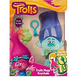"""Мягкая игрушка """"Тролль Branch, синие волосы, с расческой и карабином"""", Тролли"""
