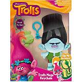 """Мягкая игрушка """"Тролль Branch, темно-коричневые волосы, с расческой и карабином"""", Тролли"""