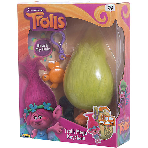 """Мягкая игрушка """"Тролль Fuzzbert, с расческой и карабином"""", Тролли"""