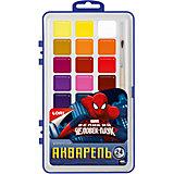 Акварель Marvel Человек-паук 24 цветов, в пластике