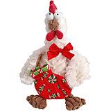 Петух новогодний, белый, 22 см, Fluffy Family