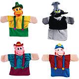 """Кукольный театр """"Три поросёнка"""", 4 куклы, Жирафики"""