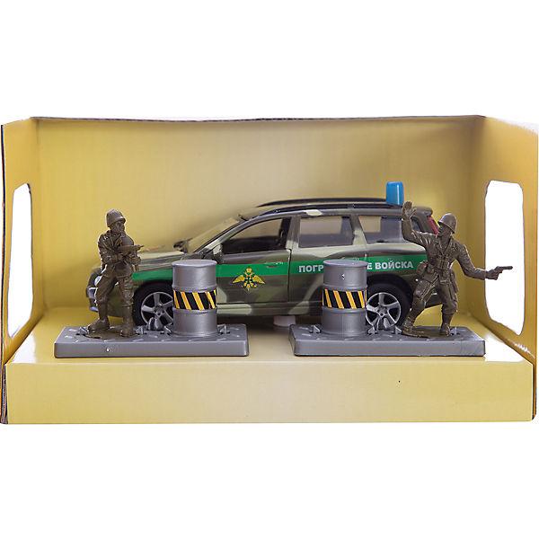 """Машина Volvo """"Пограничные войска"""", 1:32, со светом и звуком, Пламенный мотор"""