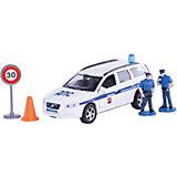 """Машина Volvo """"Полиция ДПС ГУ БДД"""", 1:32, со светом и звуком, Пламенный мотор"""